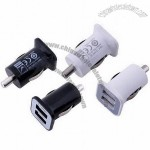 New Mini Car Charger, Cigarette Light, Dual USB Port for Cellphone/Tablet/MP3 Player