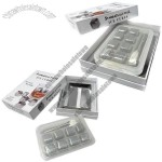 New set 8-cell stainless steel ice cube tray in square shapes, FDA-approved