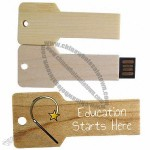 Newest Wooden Key Shaped USB Memory Stick