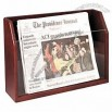 Newspaper Holder 2 Tier Red Mahogany Finish