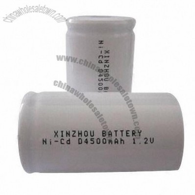 NiCd D4,500mAh Rechargeable Battery, Used to Electric Tools