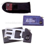 Nine Function Survival Pocket Tool Card with Black Nylon Belt Case