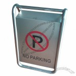 No Parking Stainless Steel Caution Board