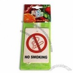 No Smoking Car Paper Air Freshener