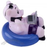 Non toxic hard and rigid PVC rubber work and fun pig bank