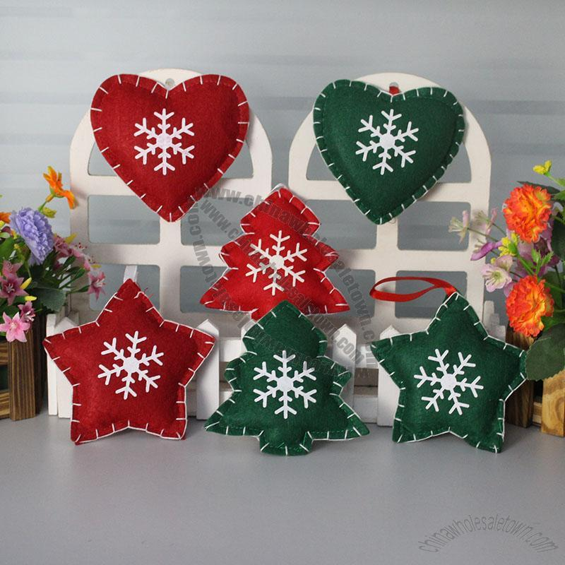 non woven christmas tree ornaments