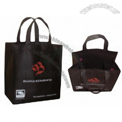 NonWoven Bag With Wine Bottle Holder