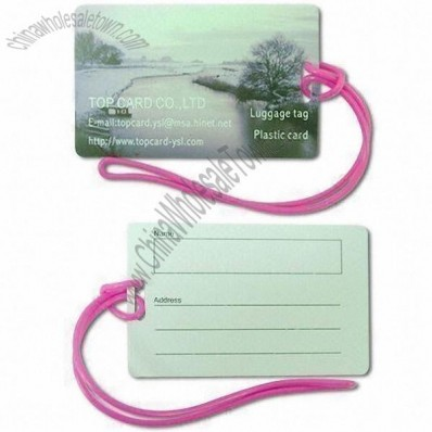 Nontoxic Plastic and PVC Luggage Tag