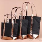 Nonwoven Tote Bag with Metallic Handle and Bottom