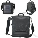 Noon Solar Logan Black Shoulder Bag