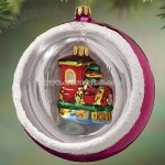 Nostalgic Train Reflector Ornament