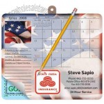 Note paper calendar mouse pad