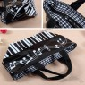 Note piano keyboard Handbag