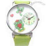 Novelty 3D Fashionable Watch, Pattern Dial and Strap