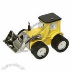 Novelty Clocks Techno Yellow Bulldozer Clock