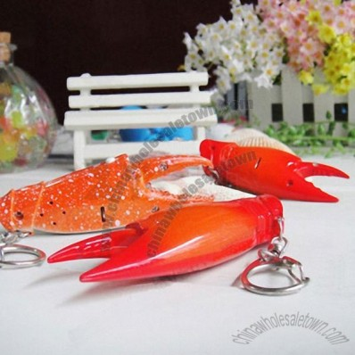 Novelty Crab Claw Sound Keychain Bright LED Light