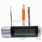 Novelty Digital Clock with Radio and Pen Holder
