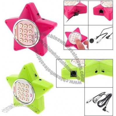 Novelty Lucky Star Corded Telephone w/ Earphone