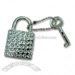 Novelty Padlock and Key Keychain