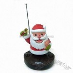 Novelty Radio with Christmas Santa Design and Large Logo Space