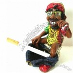 Novelty Rasta Ashtray with Arcylic