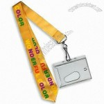 Nylon Lanyard with Rigid Badge Holder