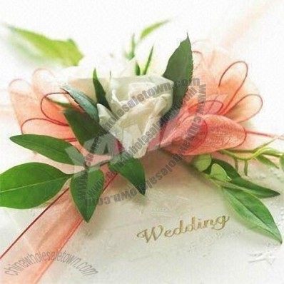 Nylon Organza Ribbon Flower, Suitable for Wedding Ornament or Party Decoration