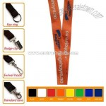 Nylon lanyard with bulldog clip attachments