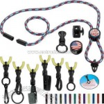 Nylon power cord lanyards