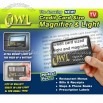 OWL Wallet Magnifier - Credit Card Size Magnifier Light