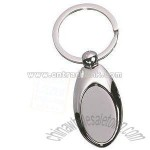 OXFORD OVAL METAL KEYRINGS