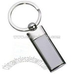 OXFORD RECTANGULAR METAL KEYRINGS