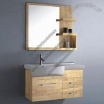 Oak Bathroom Cabinet with Mirror