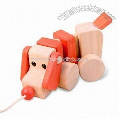 Oak Wooden Dog Toy for Educational