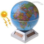 Ocean Rotating Motion Globe Solar & Electric Power Tellurian Sphere