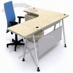 Office Desk with Metal Leg