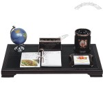 Office Desktop Gift Set with Name Card Holder, Notes, Globe, Pen Caddy, Desk Calendar