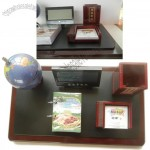 Office Desktop Set with Notes Holder, Pen Holder, Globe, Desk Calendar, Digital Calendar Clock