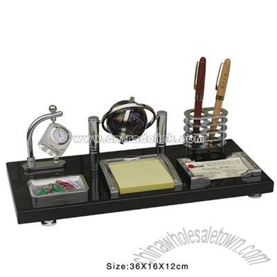 Merveilleux Office Gift With Shining Wooden Base Office Desktop Set China .