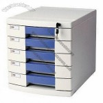 Office Stationery Plastic File Cabinet with Lock