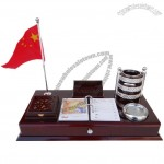 Office Stationery Set with Flag Stand, Memo Box, Calendar, Pen Holder, Name Card Holder, Organizer Box