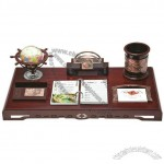 Office Stationery Set with Pen Holder, Globe, Desk Calendar, Memo Holder, Name Card Holder