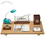 Office Table Gift Set With Table Lamp, Pen Holder, Memo, Desk Calendar,Decorations
