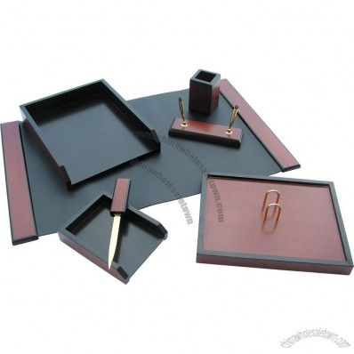 Office Wood Stationery Set