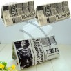 Old Newspaper Design Tissue Box