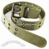 Olive Green Canvas Belt