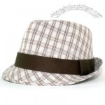 Olive Plaid Fedora hat