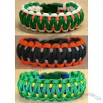 Olympics World Cup Soccer Stylish 3 Color Survival Wristband/Bracelet