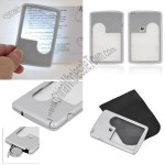 On-off Bright LED Wallet Magnifier