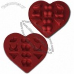 Oomph Silicone Heart-shaped Ice Cube Tray